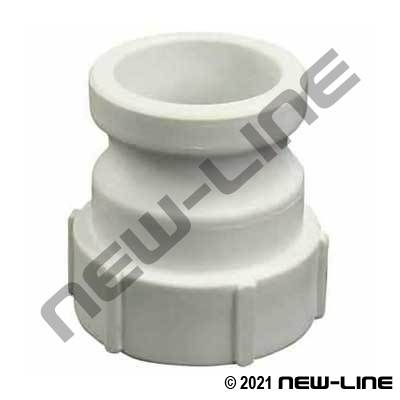 White Polypropylene Part A Camlock - Female NPT Adapter