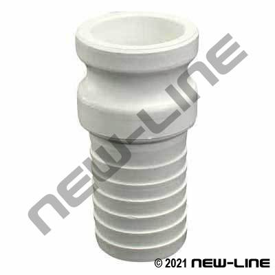 White Polypropylene Part E Camlock - Hose Adapter