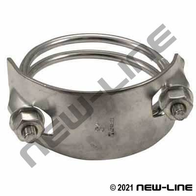 Stainless Steel Left Hand Spiral Clamp (Counterclockwise)