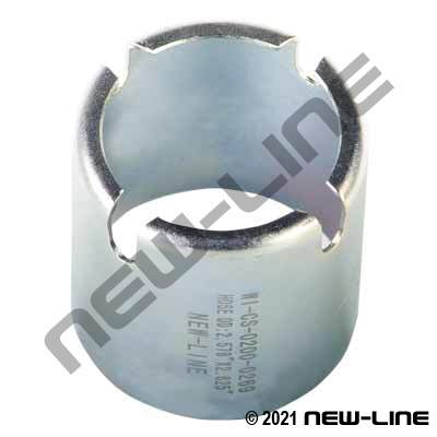Regular Interlocking Plated Steel Crimp Ferrule