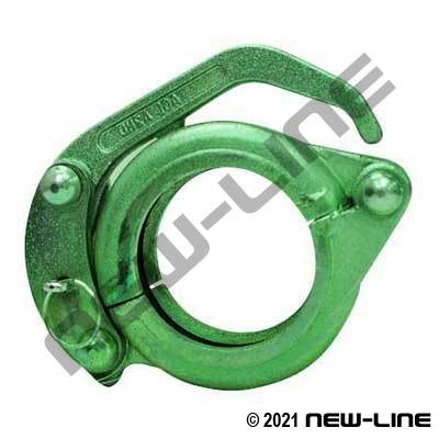 Heavy Duty CF Clamp Green Non-Adjustable