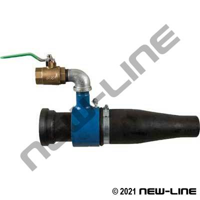 HD California Flange Shotcrete Nozzle Assy with Valve Unit