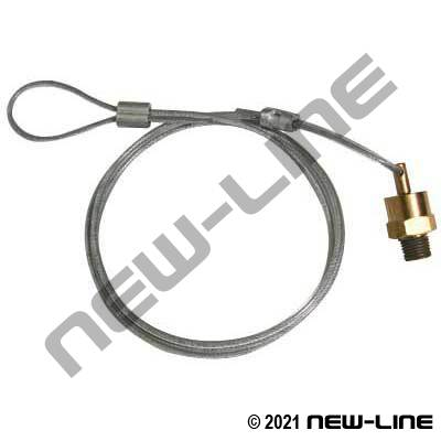 "Male NPT Air Tank Drain Valve with 60"" Cable"