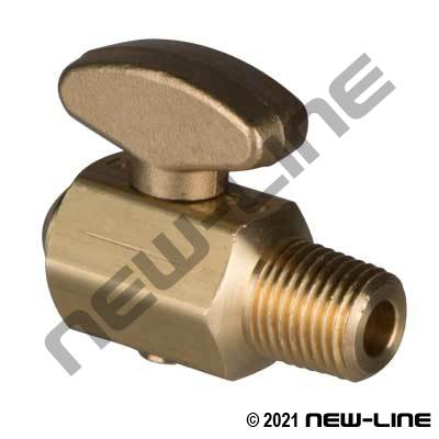 Brass Drain Valve For Air Tanks - Rounded Handle