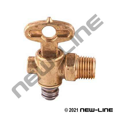 Male NPT T Handle Drain Cock Spring
