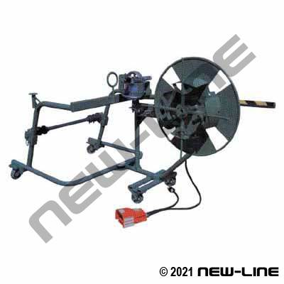 Heavy Duty Mobile Coiler System with Reel