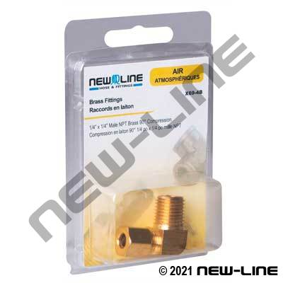 Express Pack Male NPT Brass 90° Compression