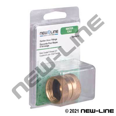 Brass Coupler x Female GHT - Retail Packaging