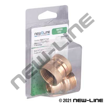 Brass Garden Hose Thread Coupler & Plug Combo - Retail Pack