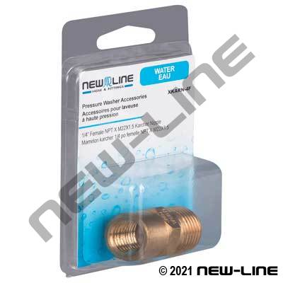 Female NPT x M22x1.5 Karcher Nipple - Retail Packaging