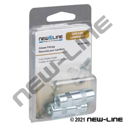 4-Jaw Grease Coupler - Retail Packaging