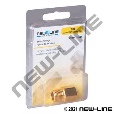 Brass Male NPT x Female NPT Adapter - Retail Packaging