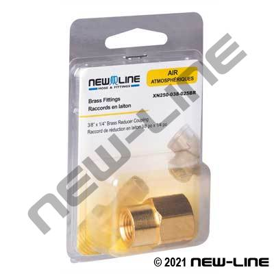 Brass Reducer Coupling - Retail Packaging