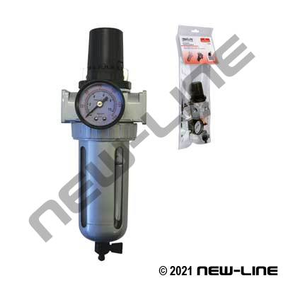 Piggyback Air Filter, Regulator, and Gauge - Retail Packaged