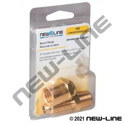Reusable Insert Only x Male NPT - Retail Packaging
