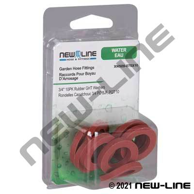 Individual Rubber Garden Hose Thread Washers - Retail Pack