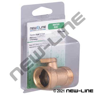 Brass Garden Hose Thread Straight Shut-Off - Retail Package