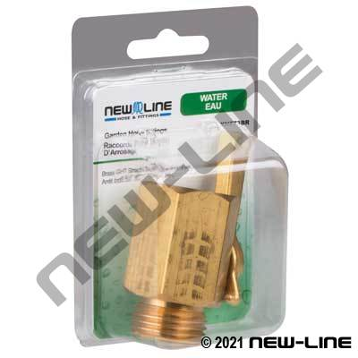 "HD Brass GHT Straight Shut-Off w/9/16"" Port - Retail Packed"
