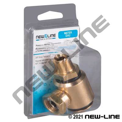 Express Pack Brass Female NPT x Male NPT Live Swivel