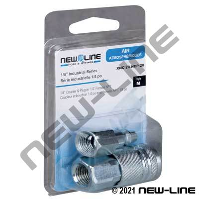 Industrial Interchange x FNPT Coupler & Nipple - Retail Pack