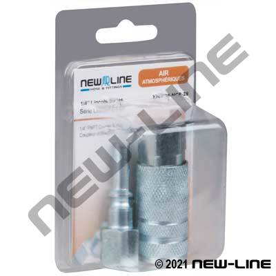 Lincoln x Female NPT Coupler & Nipple - Retail Packaging