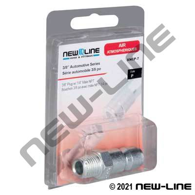 Auto Interchange Nipple x Male NPT - Retail Packaging