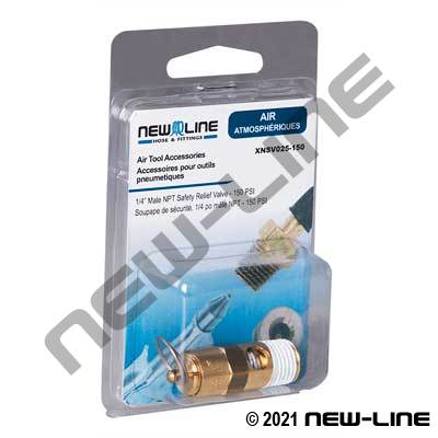 Male NPT Safety Relief Valve - Retail Packaging