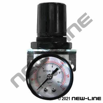Standard Air Regulator with Gauge - Mini Body