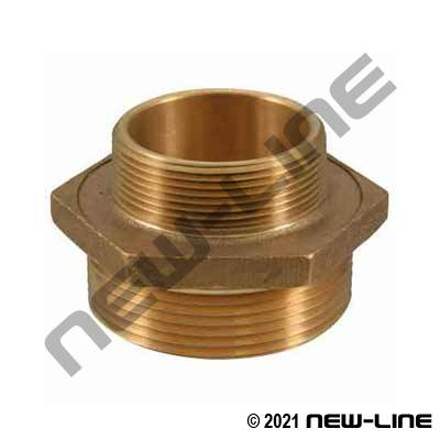 Male x Male Brass Fire Adapter - Solid