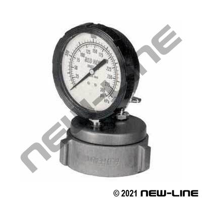 Fire Cap with Gauge Port (Gauge Not Included)