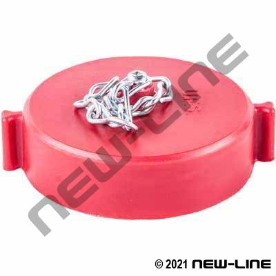 Female NH/NST Red Polycarbonate Cap with Chain