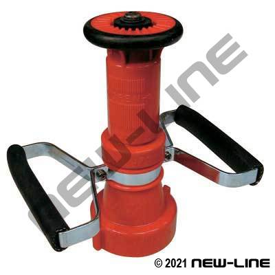 "Red Polypropylene Fog Nozzle with Handle (2.5"" Size)"
