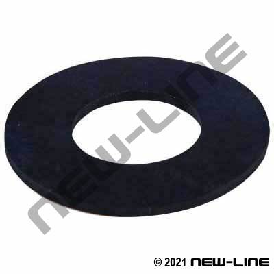 "Buna-N Rubber 150# Raised Face Flange Gasket (1/8"" Thick)"