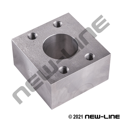 C61 Flange Connector Spacer BLOCK (For 2 O-Ring Flanges)
