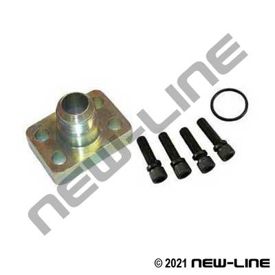 Male JIC x C61 O-Ring Flange Block Kit