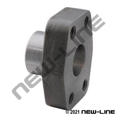 TUBE Flat Socket Weld x C62 O-Ring Flange Block