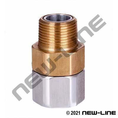 Chrome Plated Aluminum Heavy Duty Straight NPT Swivel