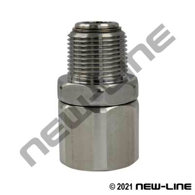 Chrome Plated Heavy Duty Straight NPT Swivel <DEF ONLY>