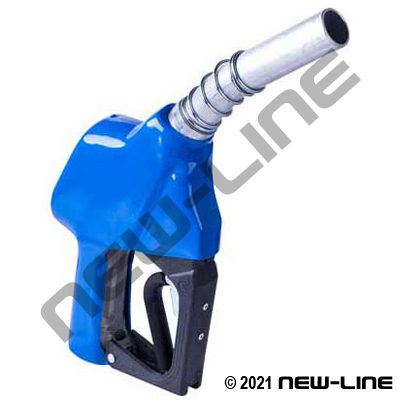 Cold Temp Service Station Blue Fuel Nozzle (Hold Open Rack)
