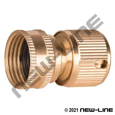 Brass Garden Hose Thread Straight-Thru Deluxe Quick Connect