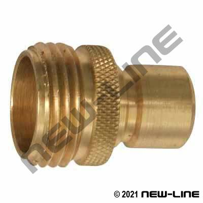 Brass Garden Hose Thread Quick Connect Plug