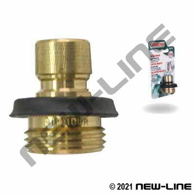 Brass Plug x Male Garden Hose Thread with Grip - Retail Pack