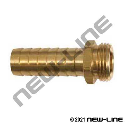 Brass Male Garden Hose Thread X Long Hose Barb