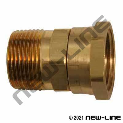 Brass Male NPT x Swivel Female GHT