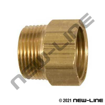 Brass Male NPT x Solid Female GHT