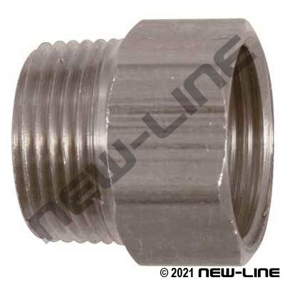 Stainless Steel Male NPT X Solid Female GHT