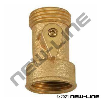 Brass Garden Hose Thread Straight Shut-Off
