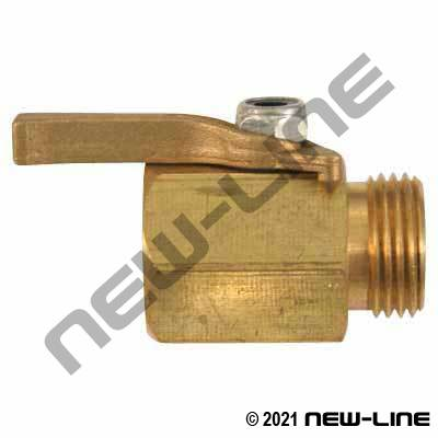 Heavy Duty Brass Garden Hose Thread Straight Shut-Off