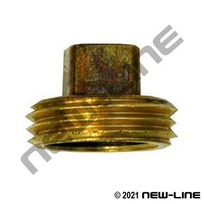 Machined Brass Garden Hose Thread Plug