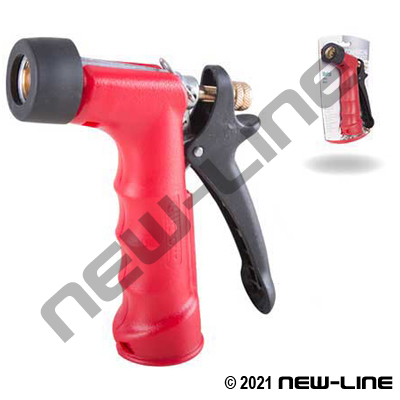 Gilmour Red HD Insulated Garden Hose Thread Nozzle/Bumper